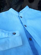 Detské oblečenie - Ľanová košeľa pre malých fešákov - 10772058_