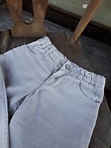Detské oblečenie - Ľanové chlapčenské nohavice - 10772067_