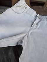 Detské oblečenie - Ľanové chlapčenské nohavice - 10772068_