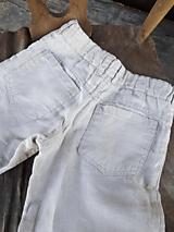 Detské oblečenie - Ľanové chlapčenské nohavice - 10772069_