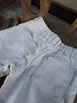 Detské oblečenie - Ľanové chlapčenské nohavice - 10772072_