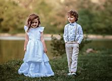 Detské oblečenie - Ľanové chlapčenské nohavice - 10772074_