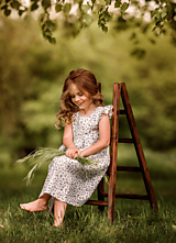 Detské oblečenie - Ľanové šatôčky Nela - 10772859_