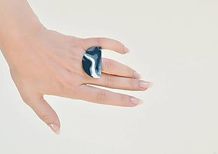 Prstene - Prsteň ZEN ~ halfmoon (Biela) - 10773044_