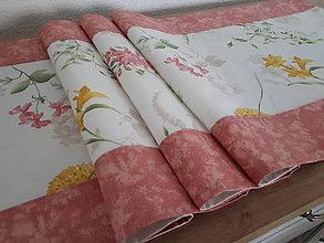 Úžitkový textil - Stredový obrus lúčne kvety (Ružová) - 10776270_