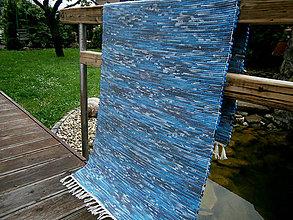 Úžitkový textil - tkany koberec modry - 10774802_