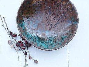 Nádoby - Keramická miska s rybičkami - 10775397_