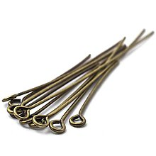 Komponenty - Keltovacia ihla s ockom (20mm - Meď/Bronz) - 10774536_