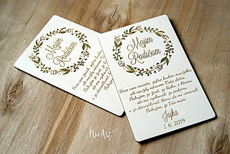 Darčeky pre svadobčanov - Poďakovanie rodičom 38 venček maľovaný - 10773884_