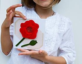 Papiernictvo - pohľadnica mak - 10773842_