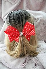 """Ozdoby do vlasov - Saténová gumička do vlasov """"červená mašľa"""" - 10774232_"""