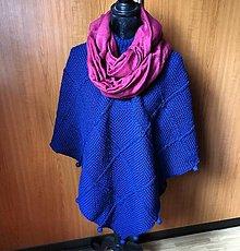 Iné oblečenie - Pončo modre - 10776123_