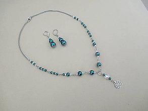 Sady šperkov - Náhrdelník s náušnicami - chirurgická oceľ - 10775861_