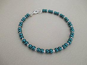 Náramky - Náramok - zelené perly - bižutéria - 10775895_