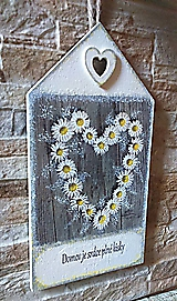 Tabuľky - Tabuľka - Domov je srdce plné lásky - 10773135_