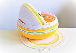 Košíky - Velikonoční set misek a prostírání 1986 - 10774164_