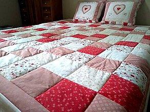 Úžitkový textil - Prehoz Staroružový - 10773618_