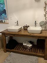 """Nábytok - Stolík pod umývadlo """" starý dub """" - 10775729_"""