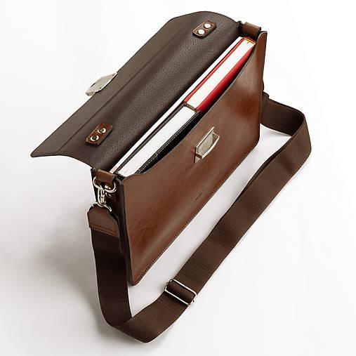 Kožená taška na notebook ZMEJSS