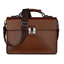 Na notebook - Kožená taška na notebook ZMEJSS (Hnedá) - 10774831_