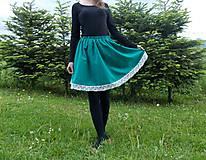 Sukne - Sukňa krátka zelená - 10775400_