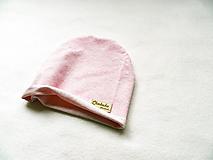 Detské čiapky - tenká čiapka ružový melír - 10775028_