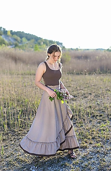 Sukne - zavinovacia sukňa Nature 2 - 10774214_