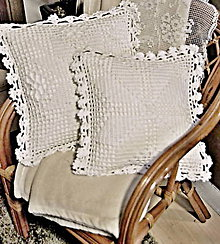 Úžitkový textil - vankúšik biely sen - 10776326_
