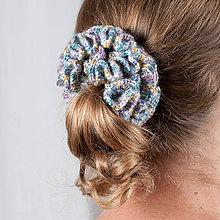Ozdoby do vlasov - Háčkovaná gumička - pestrofarebná - 10774520_