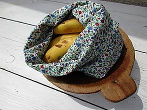 Úžitkový textil - obojstranné kvetinové vrecko - 10774506_