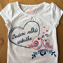 Detské oblečenie - Maľované tričko pre budúcu sestričku (Folk na bielom tričku) - 10773120_