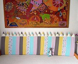 Úžitkový textil - Zástena Ceruzky 5cm hrubá PASTELová - 10775845_