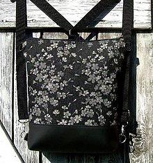 "Batohy - ""backpack 2in1 - grey flowers"" batoh & taška cez rameno - 10773810_"