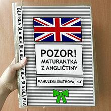 Papiernictvo - Pozor! Maturantka z angličtiny - zakladač - 10775377_