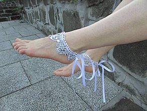 Iné šperky - Svadobné krajkové nákotníky XIV - 10775069_