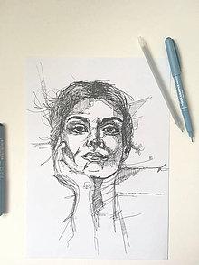 Kresby - Jej portrét - 10777741_