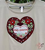 Tričká - Veselé dámske tričko - 10778142_