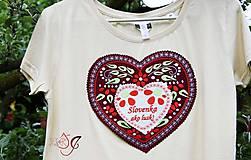 Tričká - Veselé dámske tričko - 10778146_