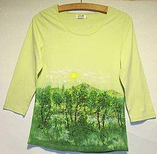 """Tričká - Dámske tričko """"Jarné lesy"""" - 10777421_"""