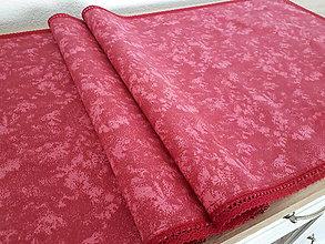 Úžitkový textil - Prestieranie s čipkou (Bordový mramor s bordovou čipkou) - 10777984_