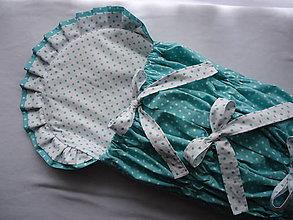 Textil - Zavinovačka - mentolová bodka - 10778726_