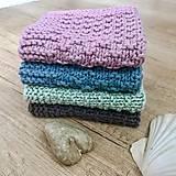 Úžitkový textil - Štrikované hygienické uteráčiky - 10778215_
