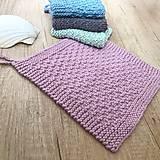 Úžitkový textil - Štrikované hygienické uteráčiky - 10778216_