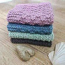 Úžitkový textil - Štrikované hygienické uteráčiky (Modrá) - 10778215_