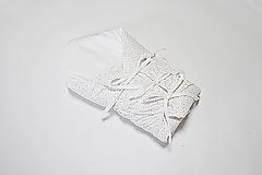 Textil - Zavinovačka s troma úväzmi ružovo-horčicové drobné tvary - 10777953_