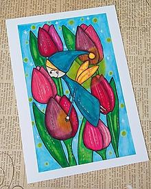 Kresby - Svetluška tulipánová - 10776798_