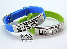 Detské doplnky - BODY ID MINI 2- identifikačný náramok (Čierna) - 10777353_