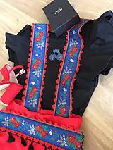 Opasky - Dámske krojové traky s folkovým opaskom - 10778077_