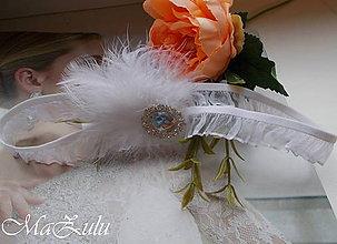 Bielizeň/Plavky - Svadobný podväzok pre nevšednú nevestu - 10776921_