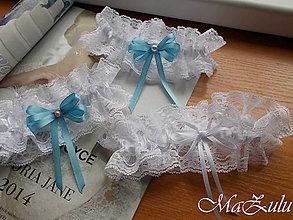 Bielizeň/Plavky - nežné svadobné podväzky XIII. - 10778882_